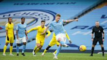 Manchester City finally move into title picture as Kevin De Bruyne and Raheem Sterling dispatch Fulham