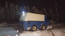 Canadian farmer uses own Zamboni to clear snowy road (Photos)