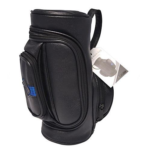 """You might have thought that the golf fan in your life had every bit of kit going, but do they have a washbag in the shape of a golf bag? At £15 from <a href=""""http://www.johnlewis.com/longridge-golf-washbag/p3011302"""" target=""""_blank"""">John Lewis</a>, it's a fun addition to their ever-growing collection of golf-related memorabilia."""