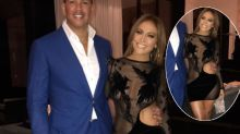 Birthday girl J.Lo sizzles in revealing 'naked' dress