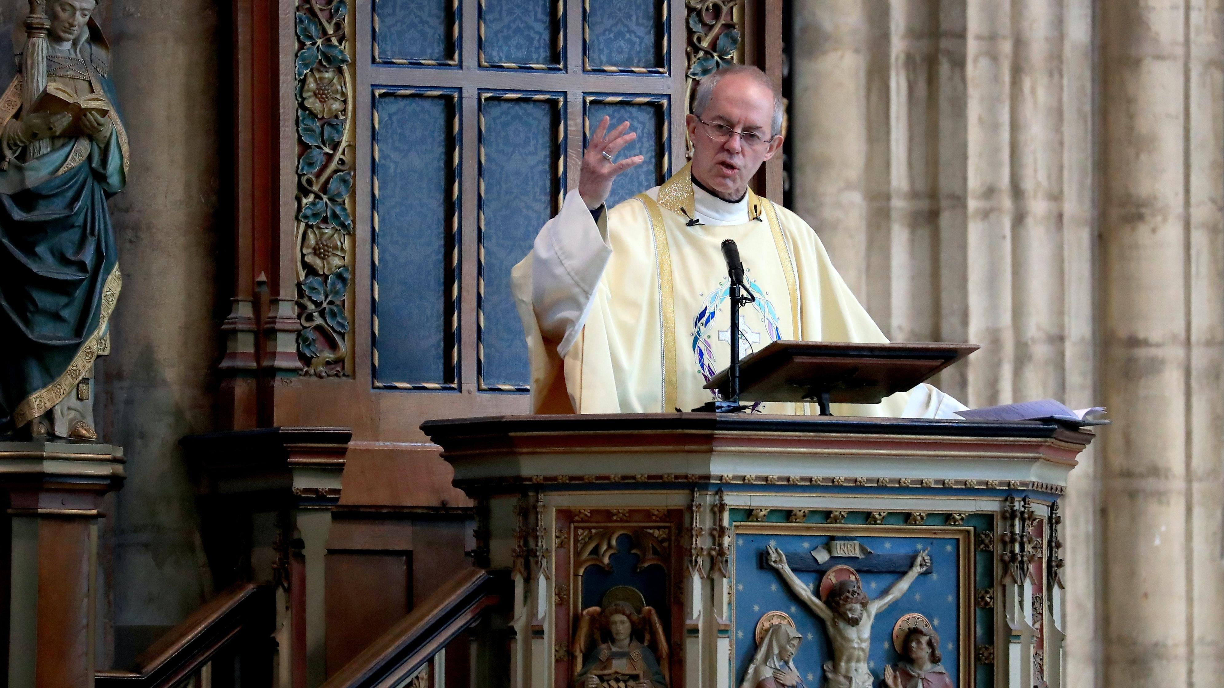 Archbishop of Canterbury: Church services ban will probably change