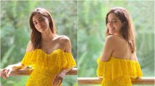 Ananya Panday Looks Like a Ray of Sunshine as She Picks Bright Yellow Off-shoulder Gown