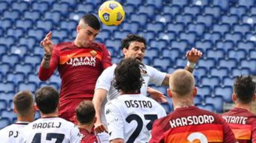 Roma-Genoa 1-0, giallorossi ok con Mancini