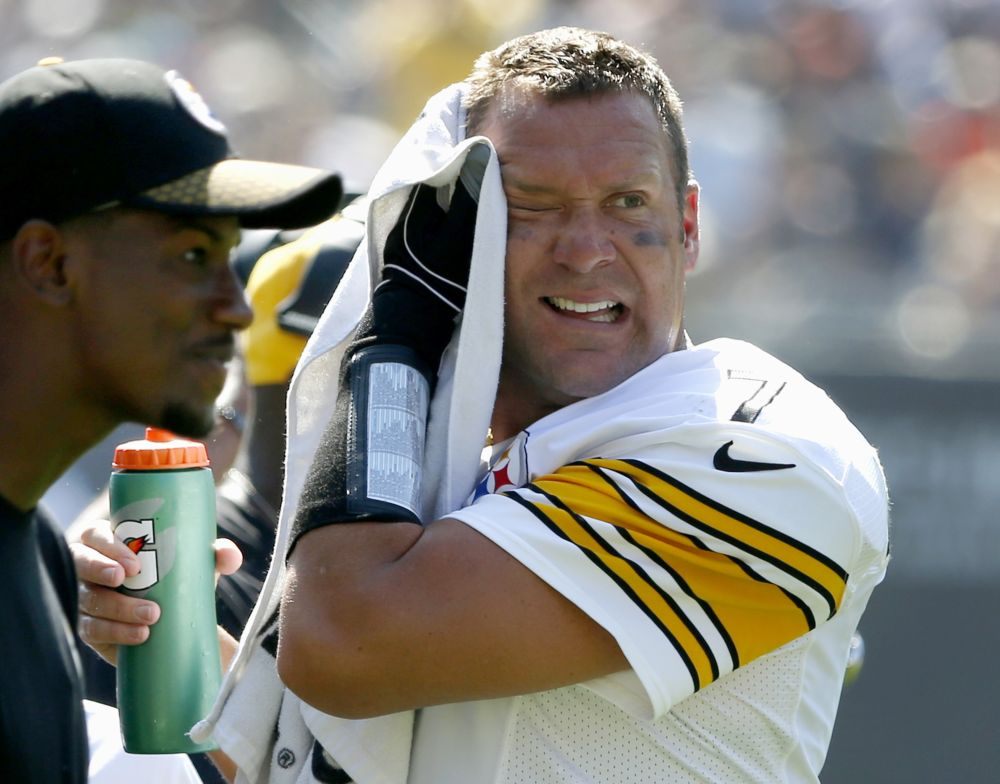 Pittsburgh Steelers quarterback Ben Roethlisberger (7) and his team have struggled on the road this season. (AP)