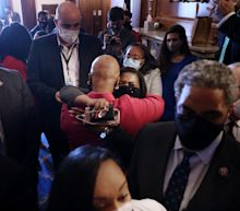 Images capture Cori Bush and Ayanna Pressley's emotional reaction as Derek Chauvin was found guilty for the murder of George Floyd