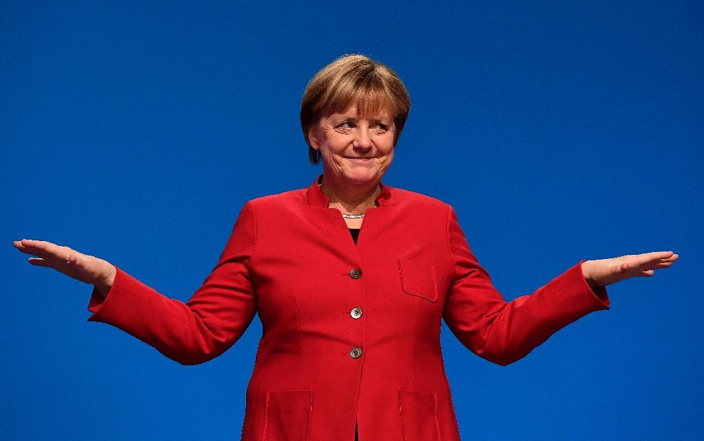 """Dubbed """"the eternal chancellor"""", Angela Merkel is widely expected to win reelection when Germany votes on Sunday (AFP Photo/TOBIAS SCHWARZ)"""
