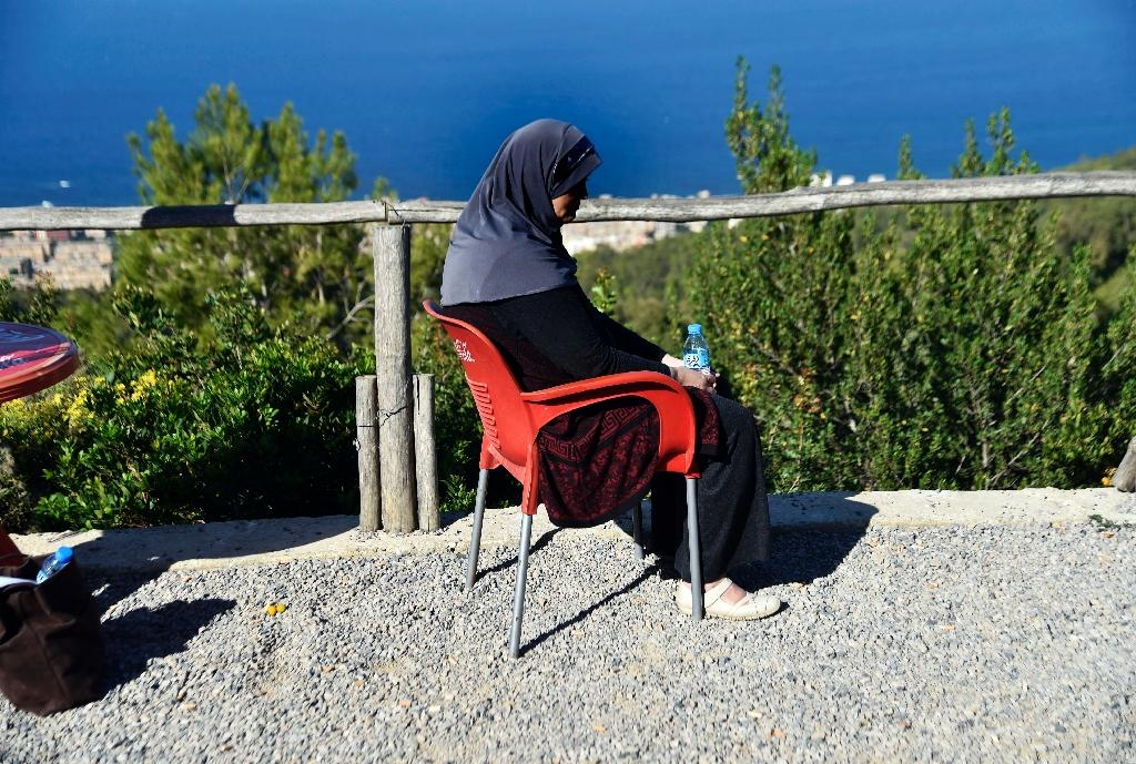 Mother-of-three Linda is one of hundreds of Algerian women to have been abandoned by their partners after being diagnosed with breast cancer (AFP Photo/RYAD KRAMDI)