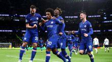 Willian brace sees Chelsea cruise past 10-man Tottenham as racism mars London derby