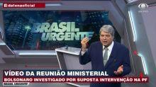 """Datena detona Bolsonaro por vídeo de reunião e vira piada: """"Fim da amizade?"""""""