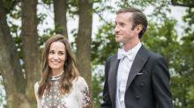 Pippa Middleton almost upstages bride in floor-length Erdem