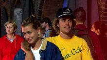 Is that a diamond ring? Hailey Baldwin flashes bling out with Justin Bieber
