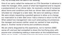 Man shares 'appalling experience' with restaurant