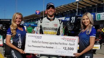 VeeKay anota pole para corrida 1 da Indy Lights na final em Laguna Seca