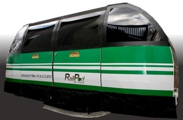 The RailPod is one track short of a train car, the future of transportation?