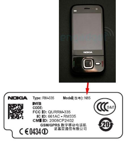 Nokia N85 hits FCC in two flavors, one with just a touch of North American 3G