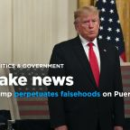 Trump spreads falsehoods on hurricane aid as scandal rocks Puerto Rico's government