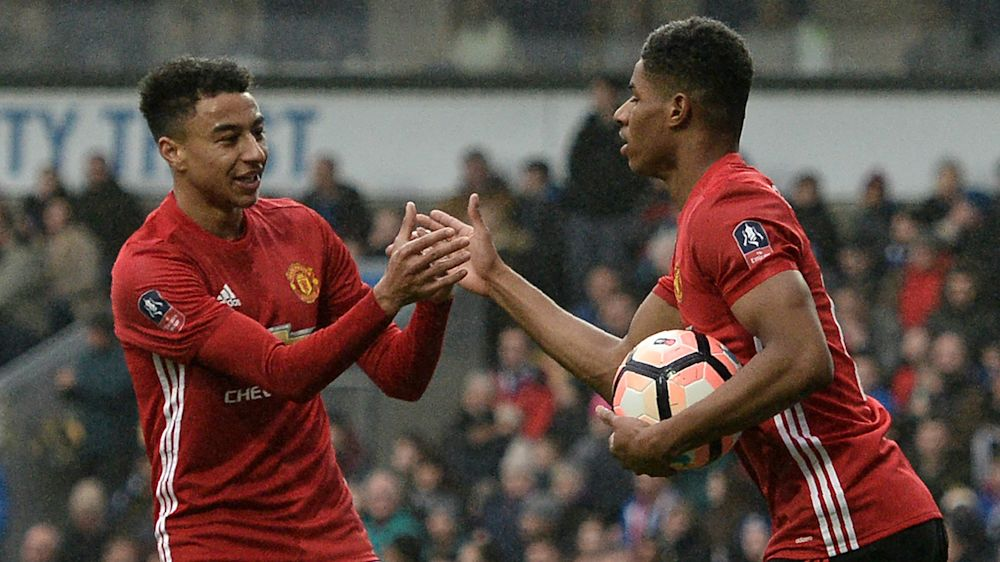 TEAM NEWS: Martial and Rashford lead the line for Man United