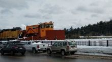 Train Plows Through Heavy Snow After Storm in Truckee