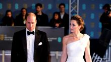 Kate Middleton Stuns in an Alexander McQueen One-Shoulder White Gown at the BAFTAs