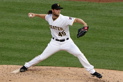 Pirates pitcher Gerrit Cole could see a lot of interest if he's on the market. (AP)