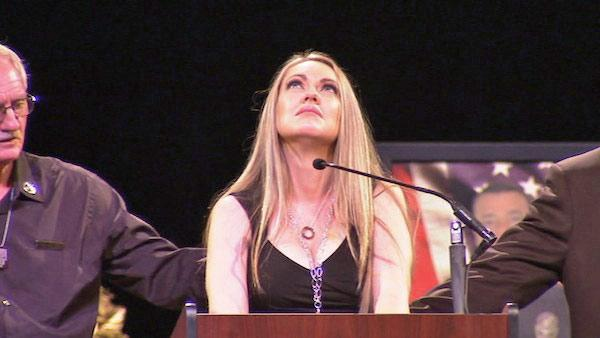Michael Crain's wife gives emotional speech
