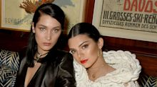 Bella Hadid and Kendall Jenner wear skimpy bikinis to play rosé pong