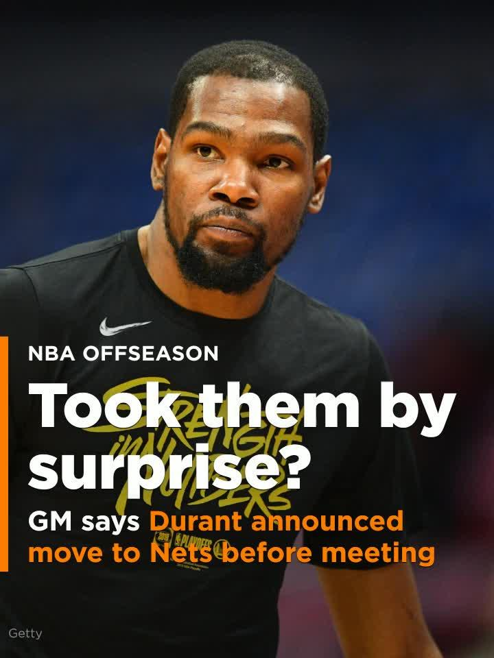 nets gm says kevin durant announced commitment to team