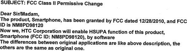 AT&T's HTC Inspire 4G gets FCC permission to enable HSUPA