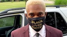Student wearing 'Black Lives Matter' mask at graduation told to remove it