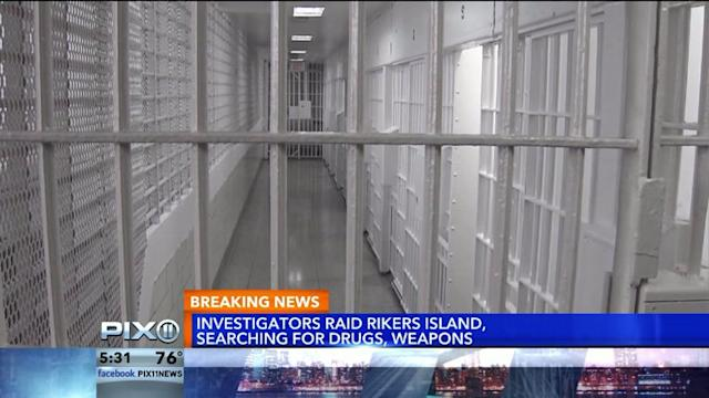 Authorities Conduct Massive Security Sweep At Rikers Island
