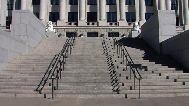 Watch: Utah man drives straight up to State Capitol building