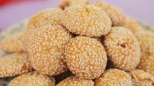 Baked Ribena Smiling Sesame Cookies