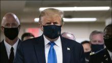 Trump trägt erstmals Mund-Nasen-Schutz in der Öffentlichkeit