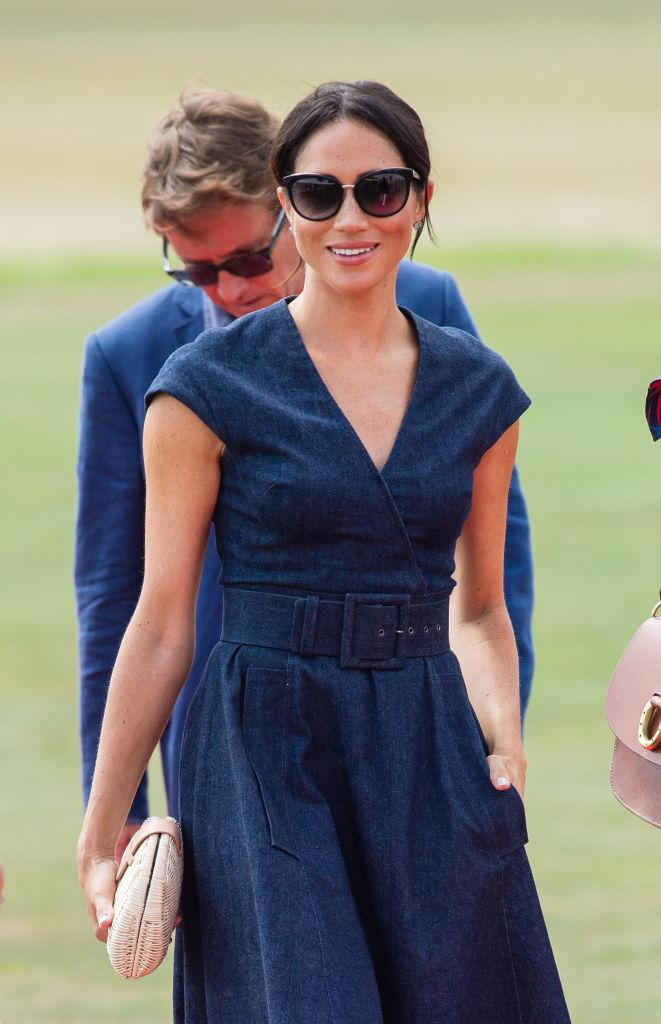 8ad7840f63e Shop 10 elegant denim dresses just like Meghan Markle