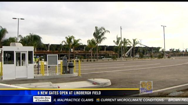 6 new gates open at Lindbergh Field