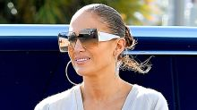 Jennifer Lopez Wears Futuristic White High-Tops at the Gym in Miami