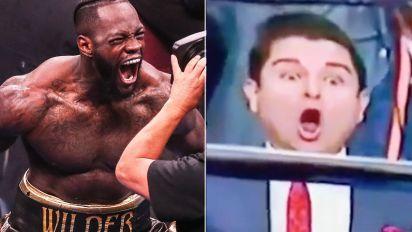 Ringside fan's incredible reaction to Wilder KO