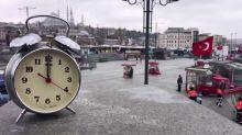 Empty cities at noon during coronavirus