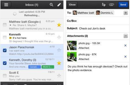 Gmail 1.3 for iOS now saves image attachments