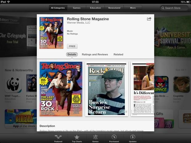 Rolling Stone comes to Newsstand