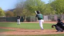 Toby Scoles' Double to right field 26-Mar-2015