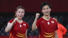 Olympics-Badminton-Japan bags mixed doubles bronze; China's streak of wins continues