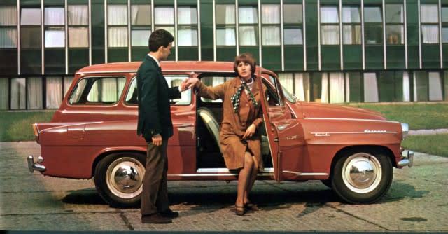 ▲1960年代在東歐相當暢銷的Škoda Octavia Combi旅行車。
