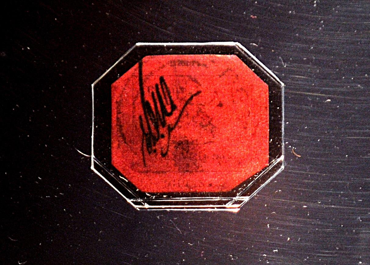 <p>The world's most expensive stamp sold at auction in 2014 for over $9 million.</p>  <p>The British Guiana One-Cent Magenta is as rare as a stamp can get. British Guiana was one of the first countries in the New World to start issuing stamps, but in 1856, they ran out, and asked the local newspaper printer to produce extras.</p>  <p>There were two denominations: the four-cent, which is very rare, and the one-cent - of which only one has ever been discovered.</p>