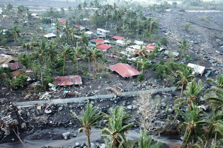 Albay was particularly badly hit by Typhoon Goni