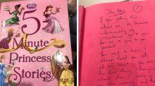 Mum finds heartbreaking note in second-hand children's book