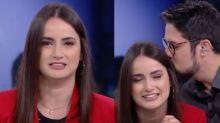 Mari Palma chora com surpresa do namorado em despedida na CNN