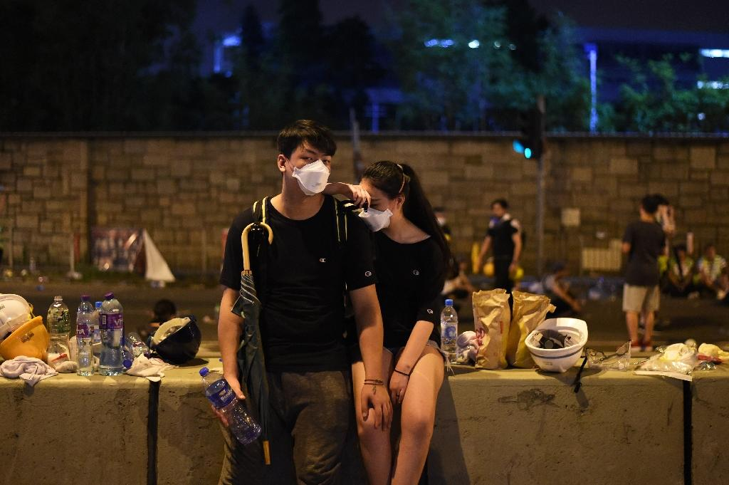 Many who went into the streets of Hong Kong this week to decry what they see as yet another erosion of their city's freedoms were very young (AFP Photo/HECTOR RETAMAL)