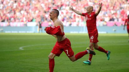 Bayern Munich 5 Eintracht Frankfurt 1: Robben and Ribery strike to seal seventh consecutive Bundesliga title