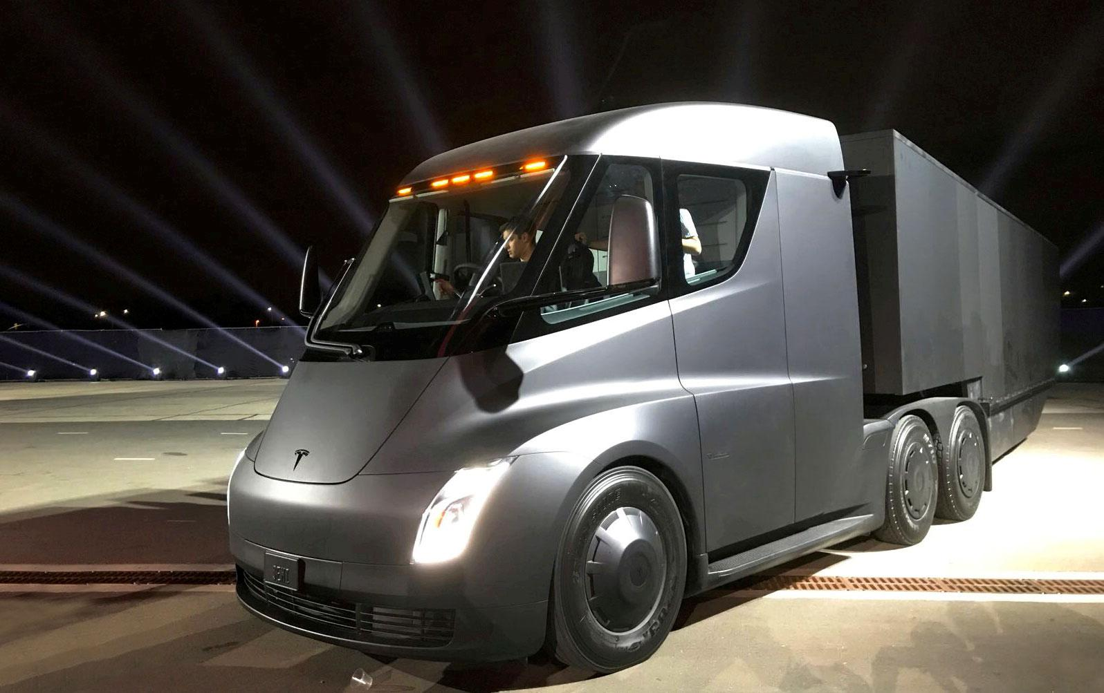 The launch event for the Tesla Semi.